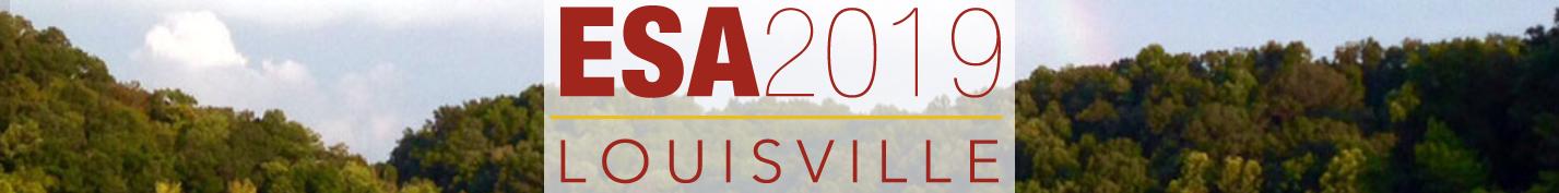 2019 ESA Annual Meeting (August 11 -- 16)